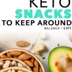 Keep these easy keto snacks on hand to beat the first few days and weeks going keto. Adapting can be a little rough, so you want to make it as easy as possible. These keto snacks are just the thing you need!
