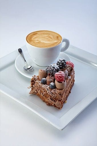 image of a keto dessert and coffee