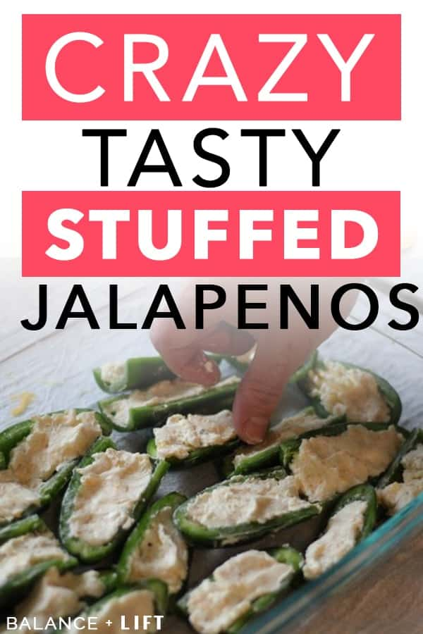 jalapeno halves stuffed with cream cheese and shredded cheese mixture
