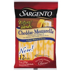 Image of Sargento Cheddar-Mozzarella cheese sticks