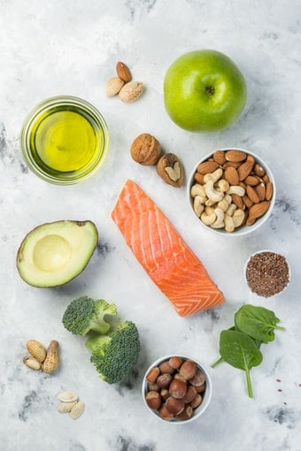 image of keto foods on a table