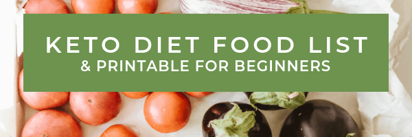 vegetables on a counter - keto diet food list