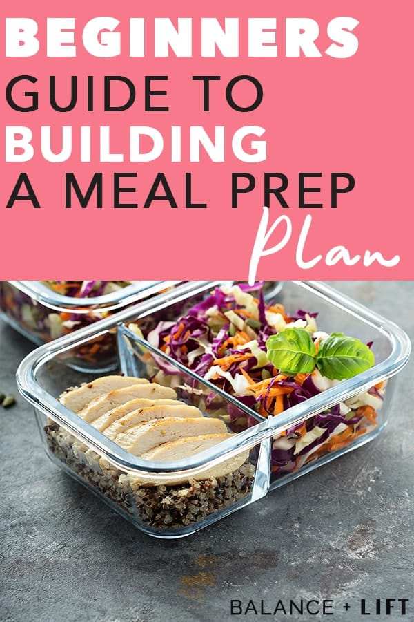 meal prep container with chicken, coleslaw and quinoa