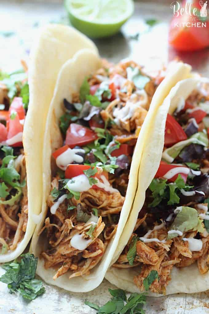 image of chicken tacos
