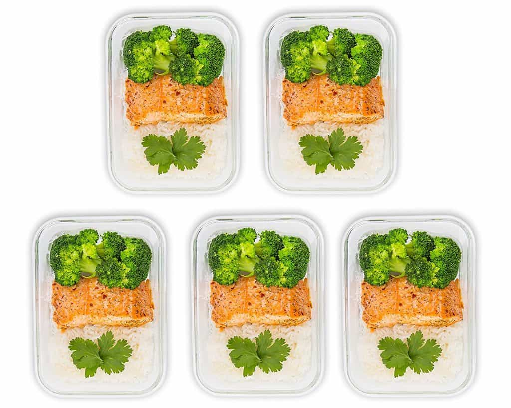 one section glass meal prep containers