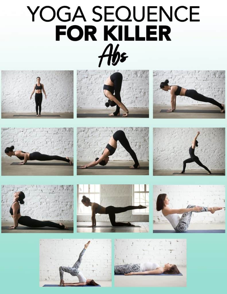 yoga sequence with images of all the poses in this post