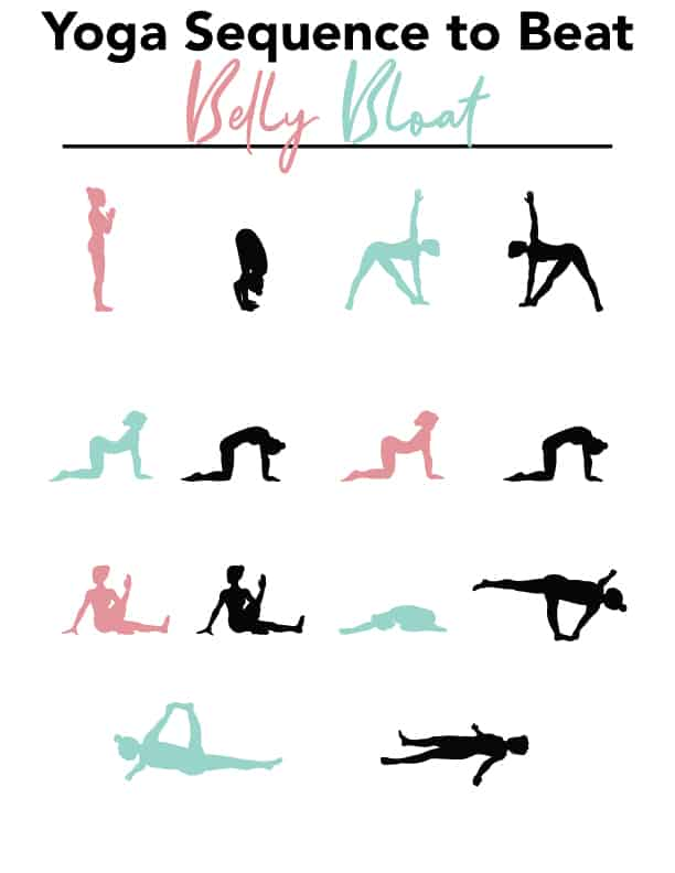 yoga sequence containing the yoga poses in this post