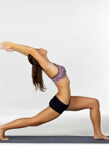 woman in crescent lunge