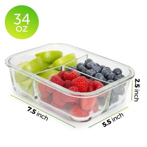 3 compartment meal container