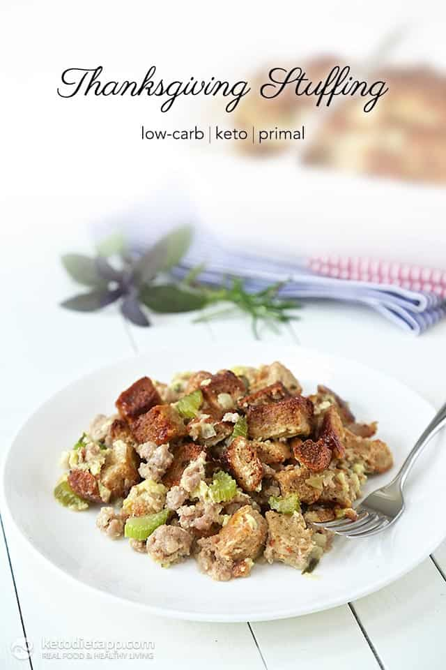 low-carb keto thanksgiving stuffing