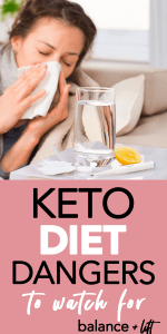woman blowing her nose - keto diet dangers