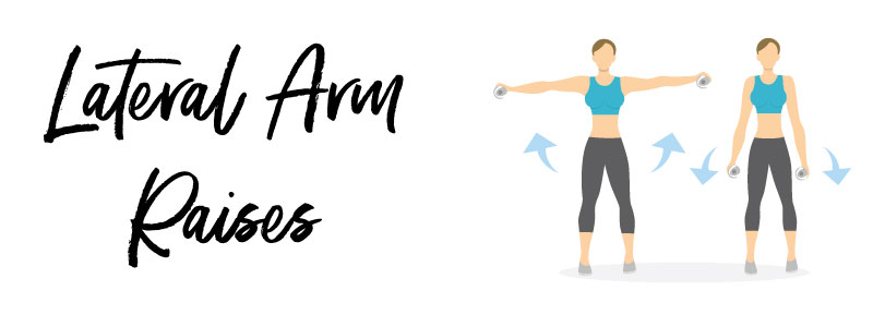 woman doing lateral arm raise