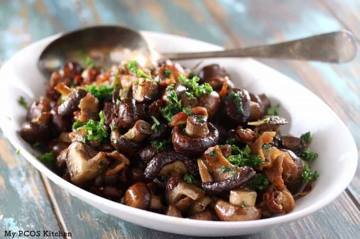 roasted buttery mushrooms
