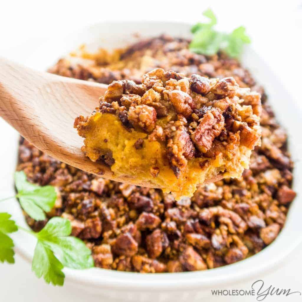 Healthy Low Carb Sweet Potato Casserole