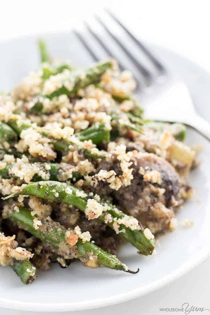 low-carb green bean casserole