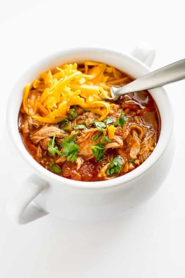 pulled pork chili in a bowl