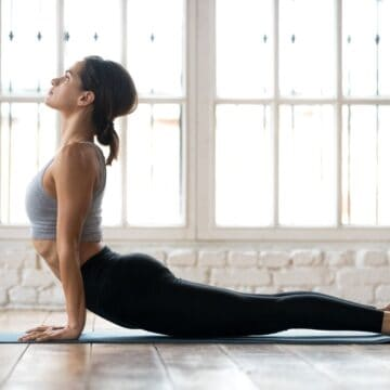 woman practicing a yoga pose