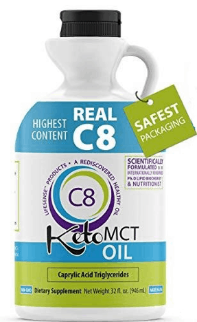 Real C8 MCT Oil ketone supplement
