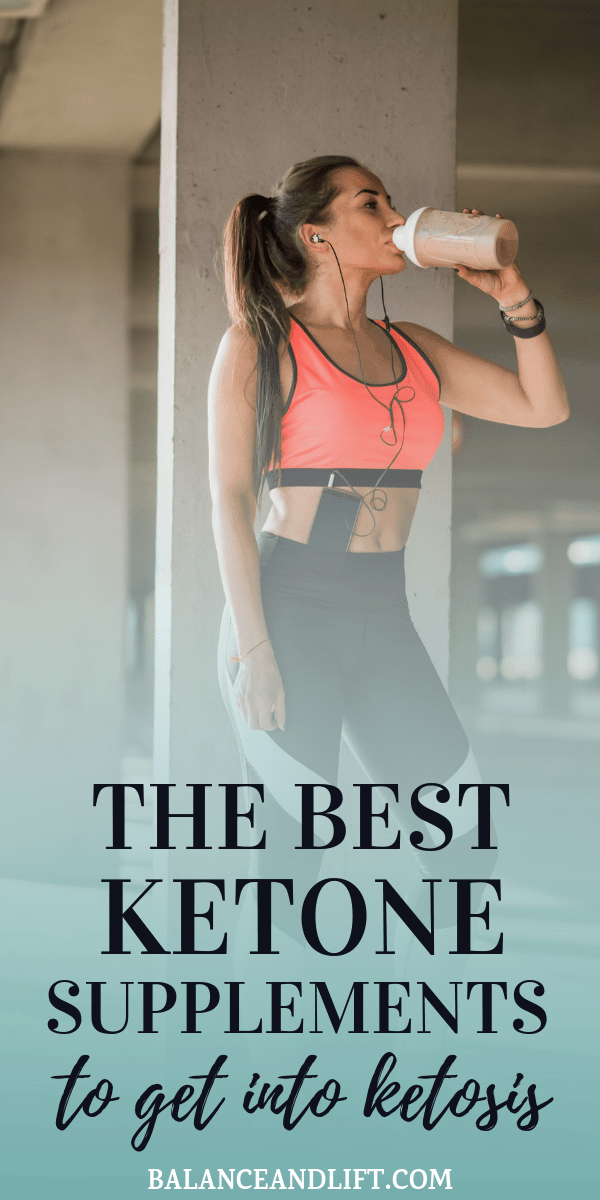 woman drinking a ketone supplement shake