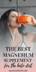 woman drinking a supplement shake
