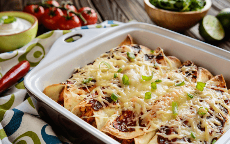 enchiladas in a dish
