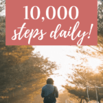 woman walking down a road - get 10,000 steps