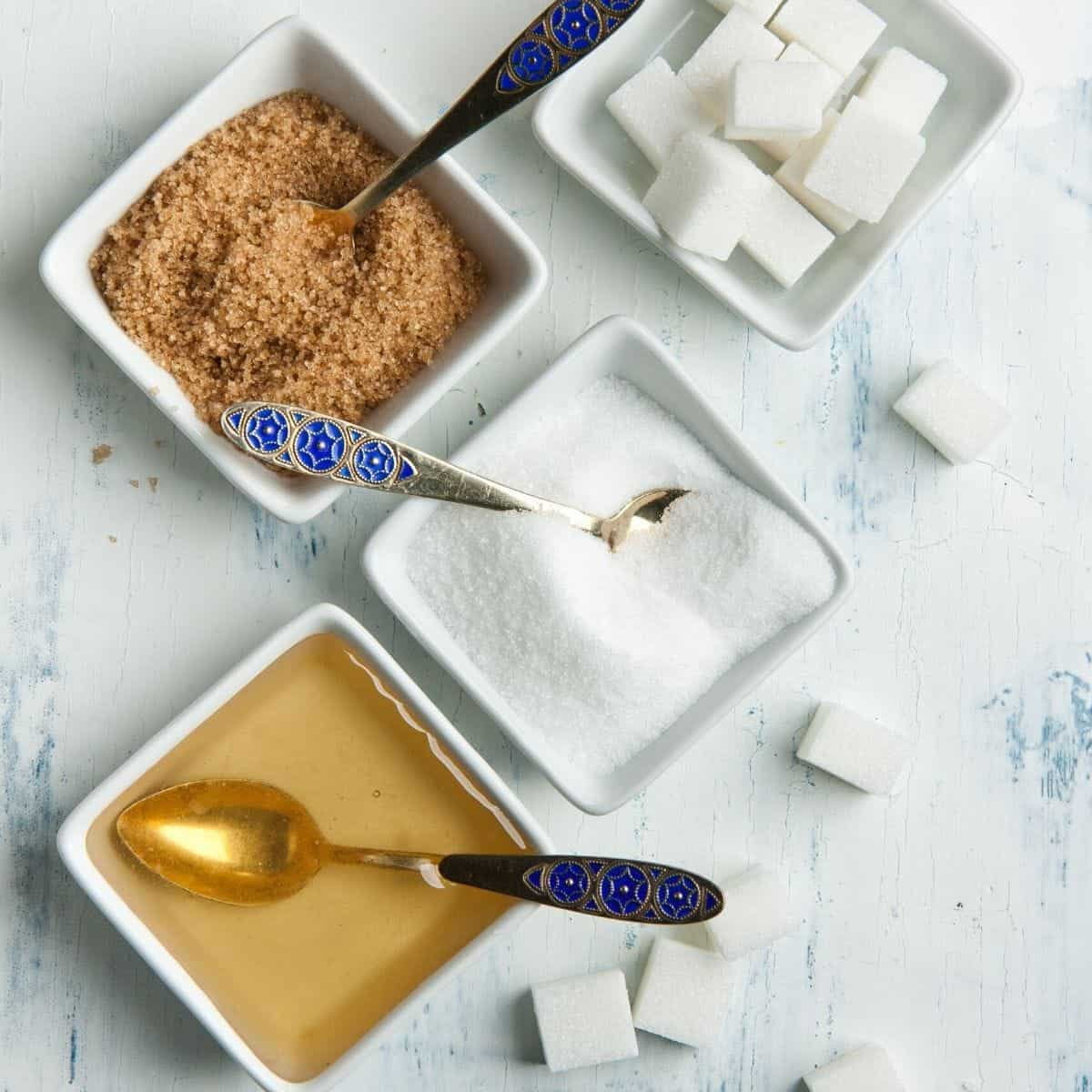 different sweeteners in dishes
