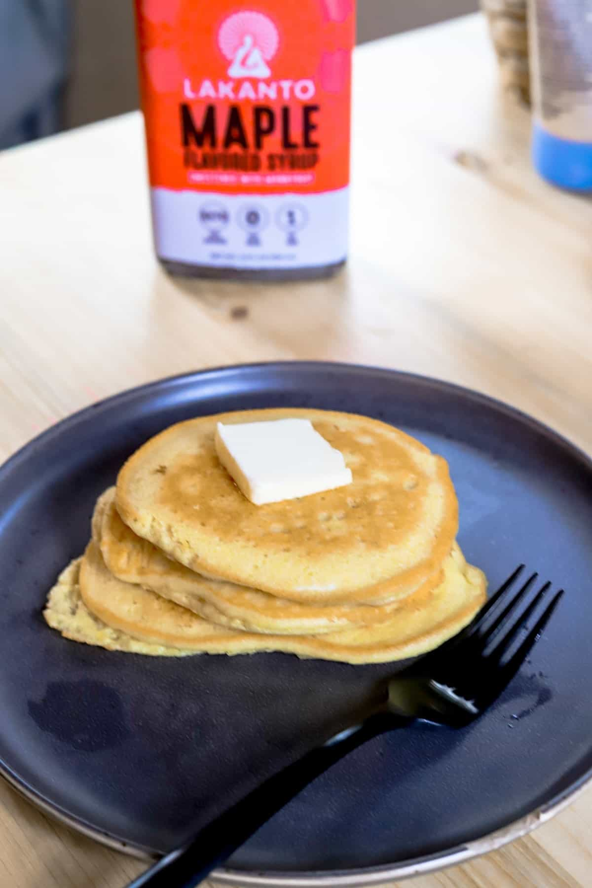 keto low carb pancakes on a plate