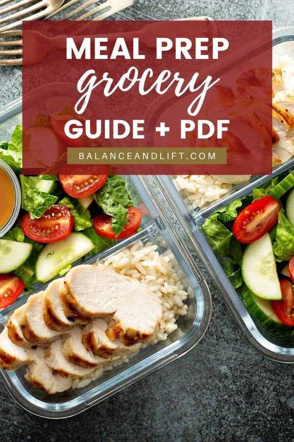 meal prep grocery guide image