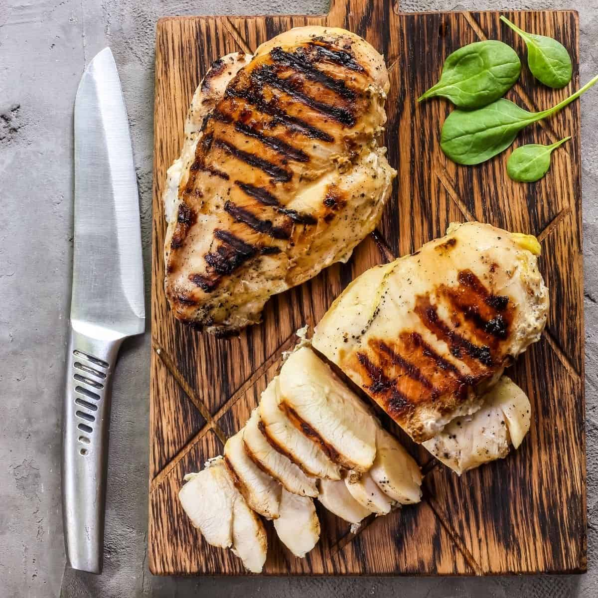 sliced grilled chicken breast