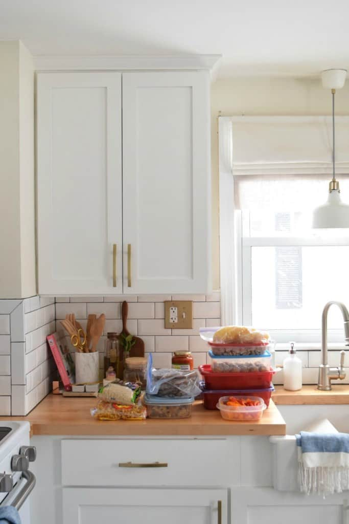 image from nesting with grace of her kitchen with food on the counter