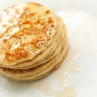 easy homemade pancakes on a plate