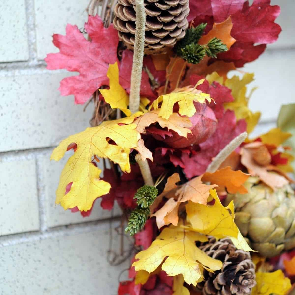 embracing fall vibes with a fall wreath