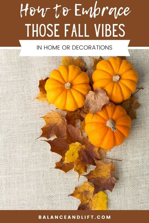 creating fall vibes with this lovely table runner