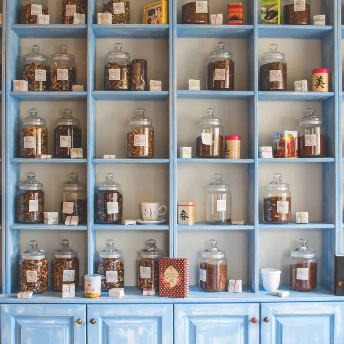 learn how to setup a home apothecary like this