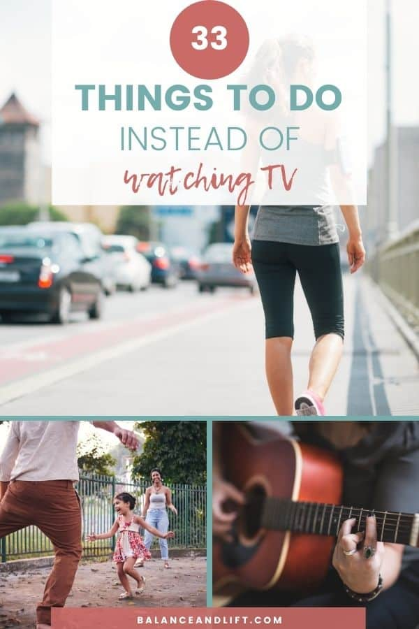 collage of things you can do instead watching tv