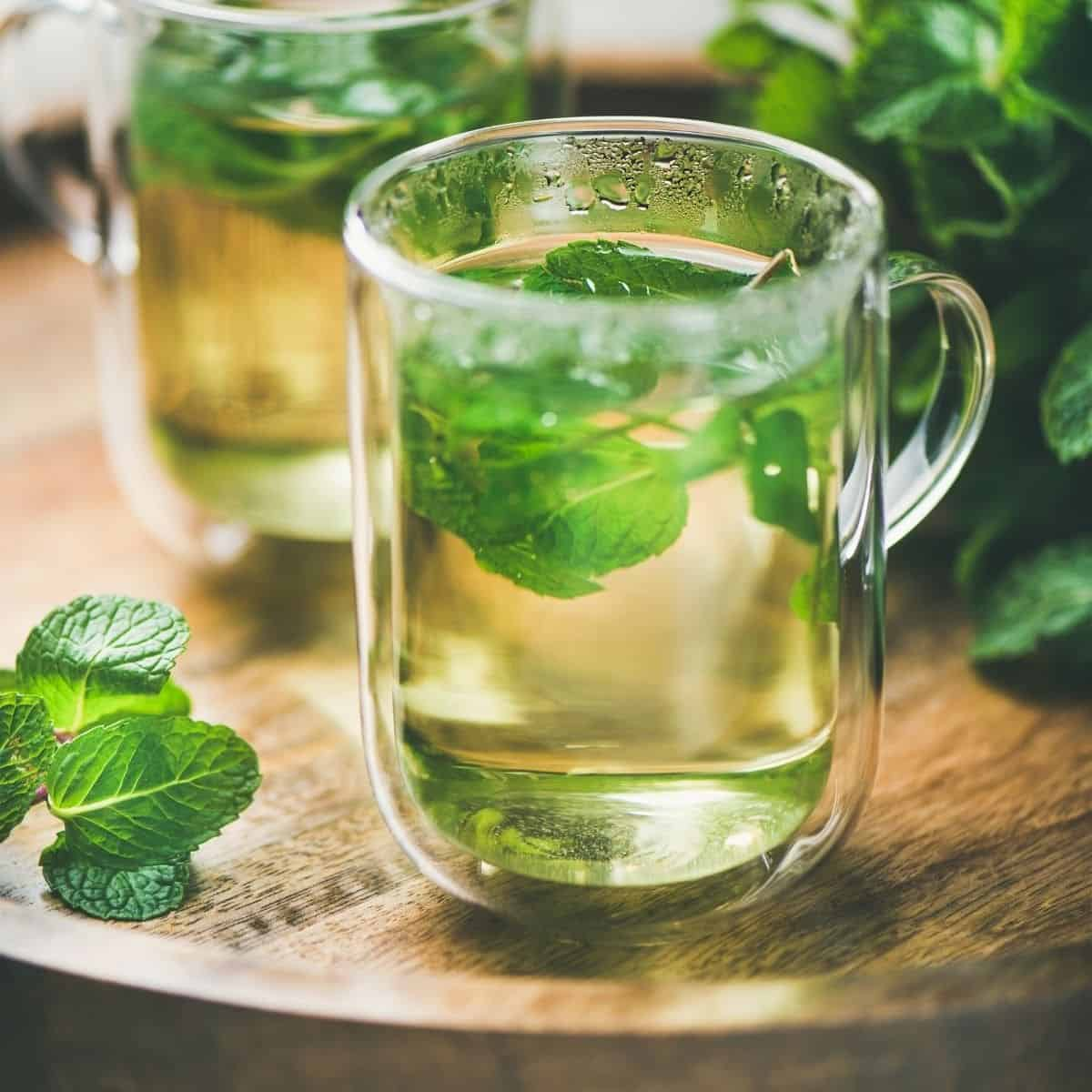 herbal tea for stress relief using peppermint