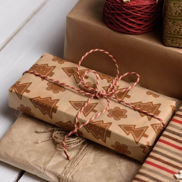 keto holiday gifts wrapped