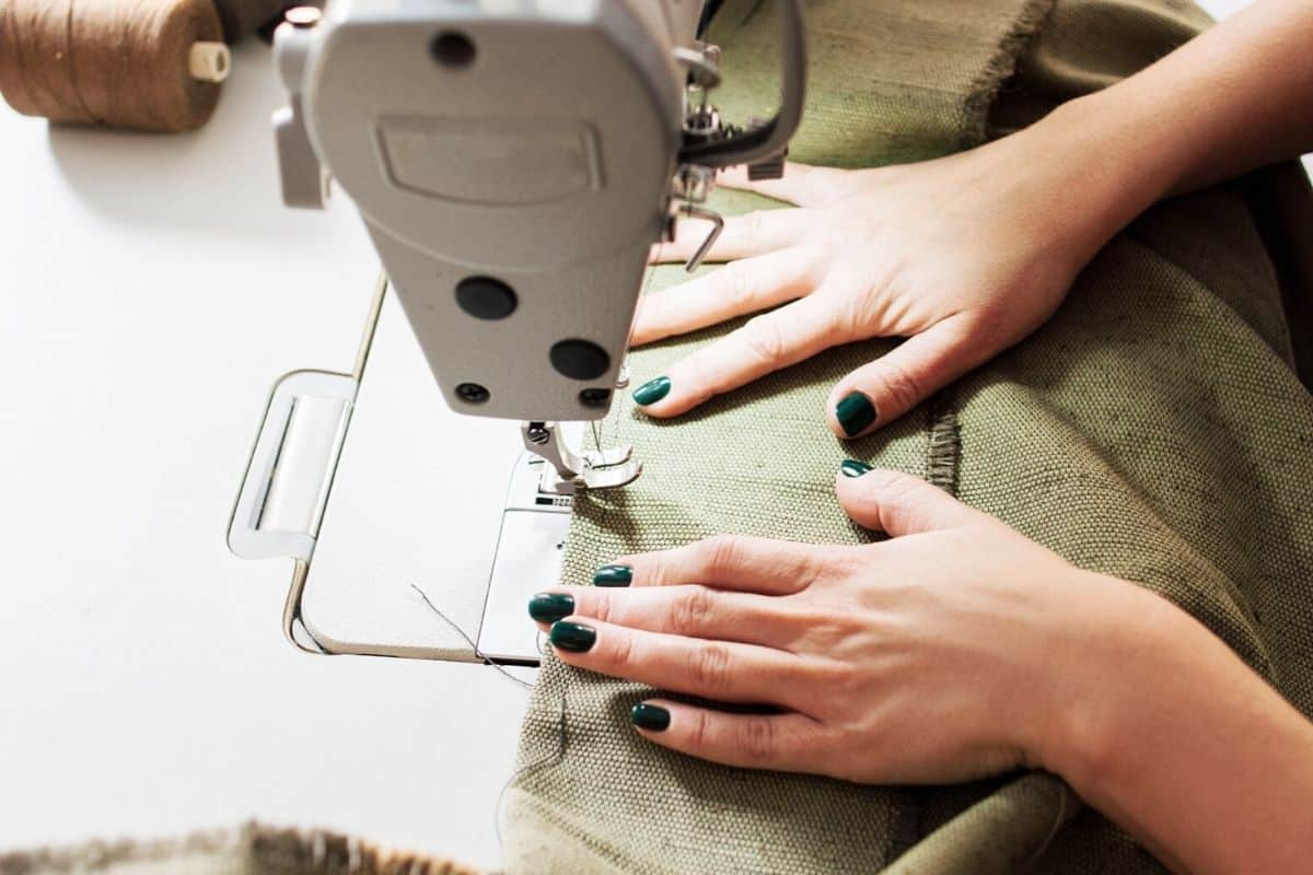 sewing clothes to become more more self-sufficient