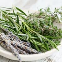 herbs in a little dish