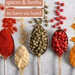 Keto-friendly spices on spoons