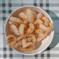 pork rinds for keto in a bowl